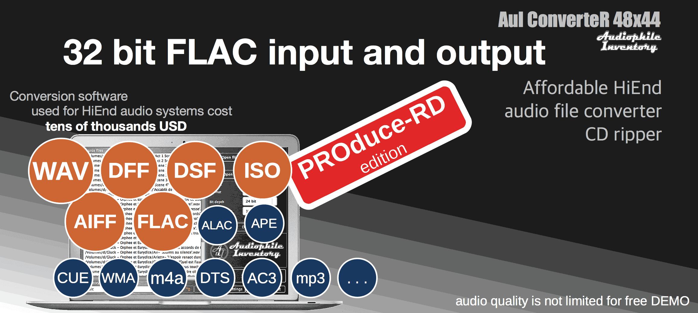 Convert 32-bit FLAC WAV AIFF [Mac Windows] [Definitive Guide 2019] в