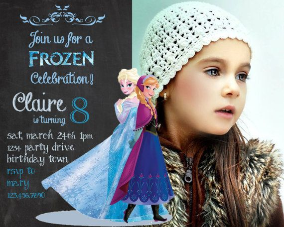 graphic relating to Frozen Birthday Card Printable titled Frozen birthday invitation - Disneys Frozen - Disney