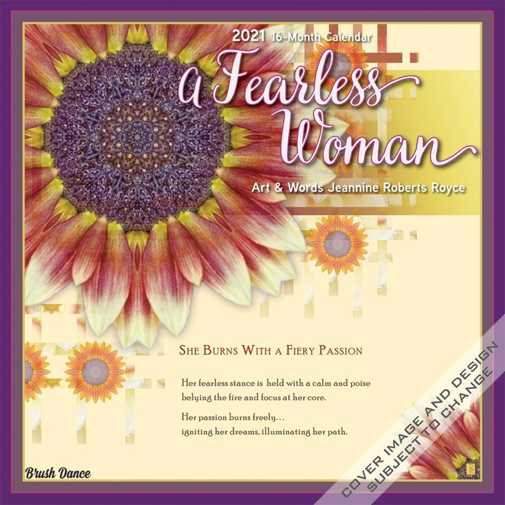 A Fearless Woman 2021 12 x 12 Inch Monthly Square Wall