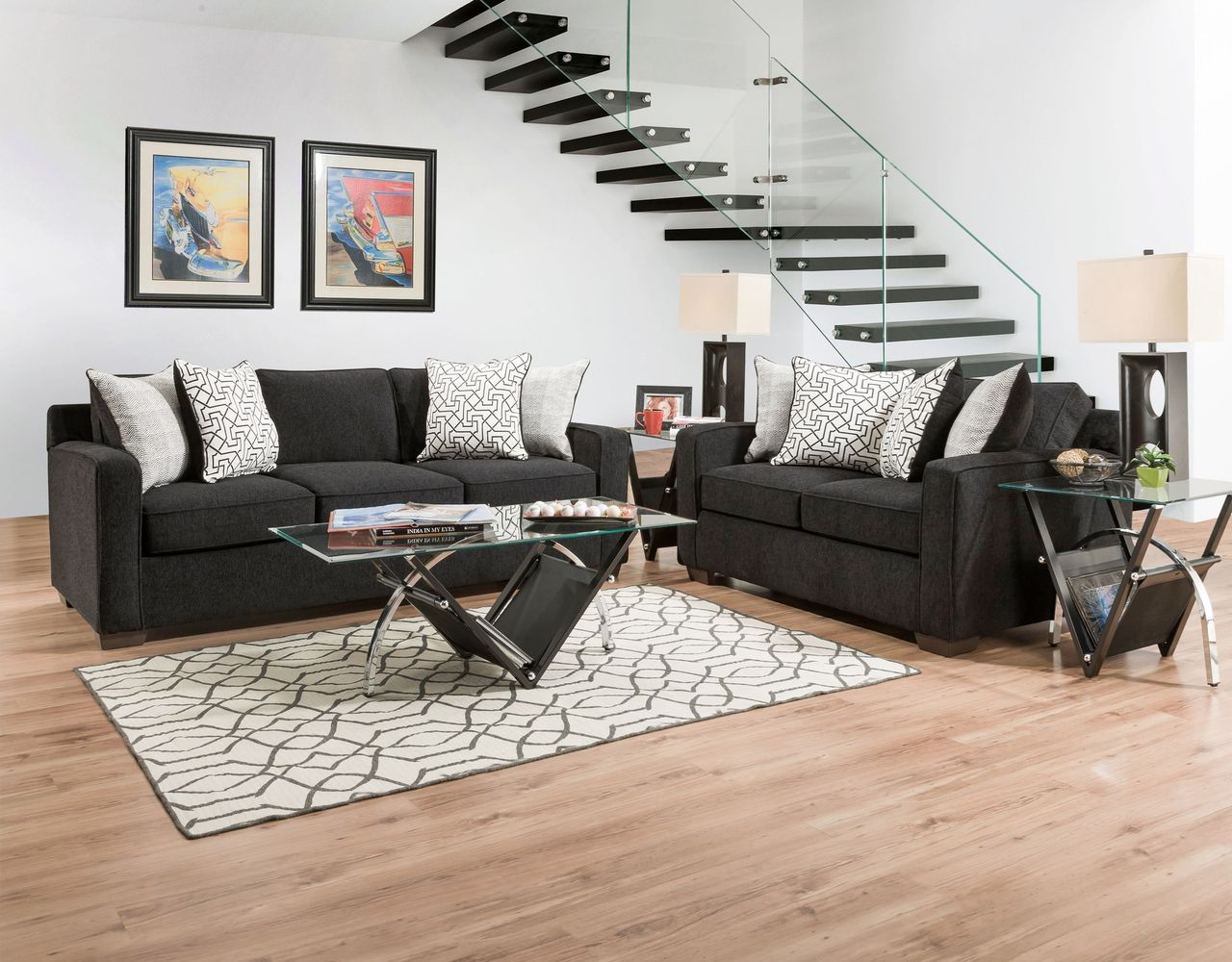 Prime American Guild Ebony Sofa Loveseat Set Get It Today Caraccident5 Cool Chair Designs And Ideas Caraccident5Info