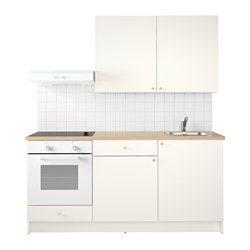 KNOXHULT Küche, weiß Breite: 180.0 cm System, Tiefe: 61.0 cm Höhe ...