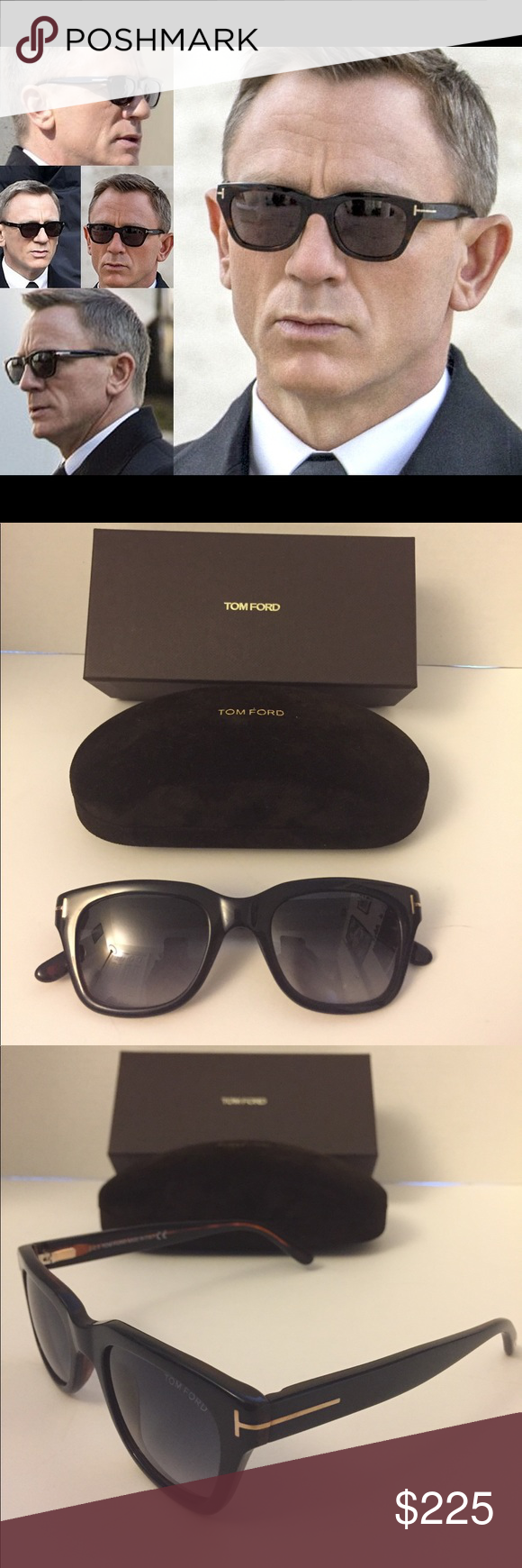 6cd91dc31116 100% Authentic -Tom Ford Snowdon Sunglasses FT0237 The Same Model as Worn  by Daniel