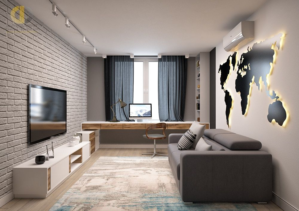 Photo of Interior design of a three-room apartment 106 m2 in high style