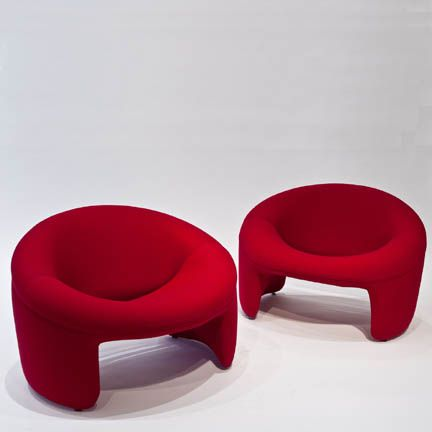 Incredible Olivier Mourgue Pair Of Montreal Chairs 1967 Internal Frame Bralicious Painted Fabric Chair Ideas Braliciousco