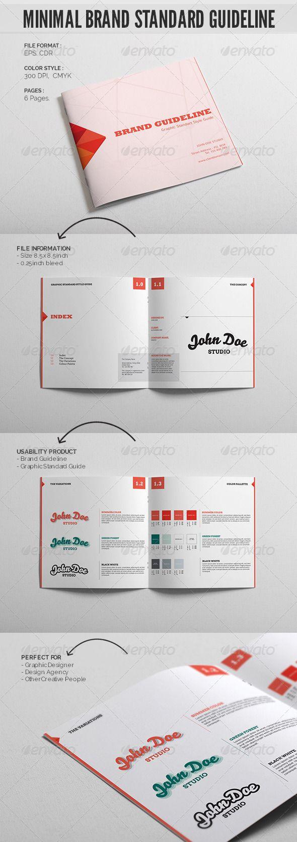 Minimal Brand Standard Guideline Template Brand Guidelines Template Brand Guidelines Book Brand Book