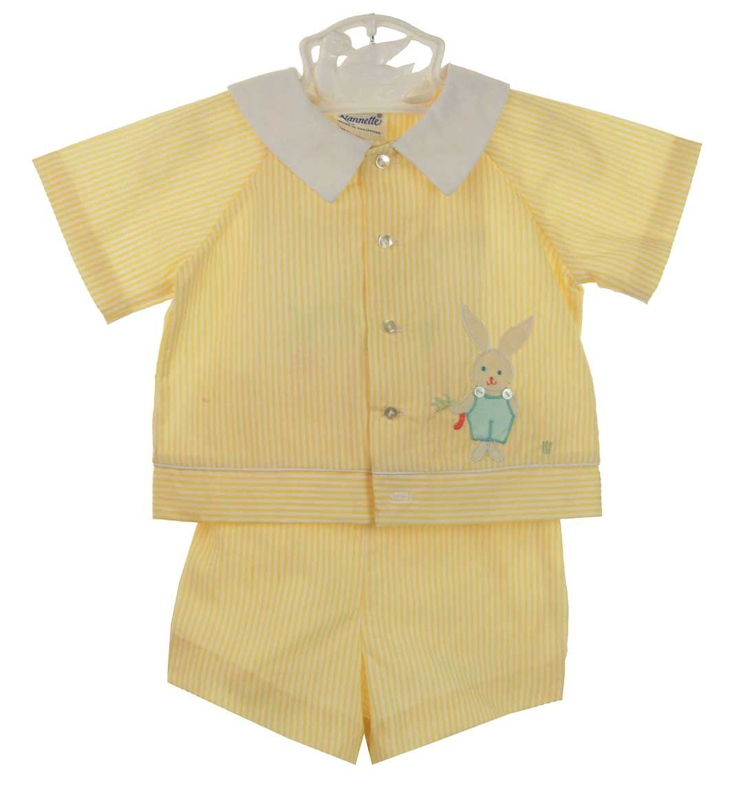 Retro 1960s Unworn Nannette Yellow Striped Sunsuit And