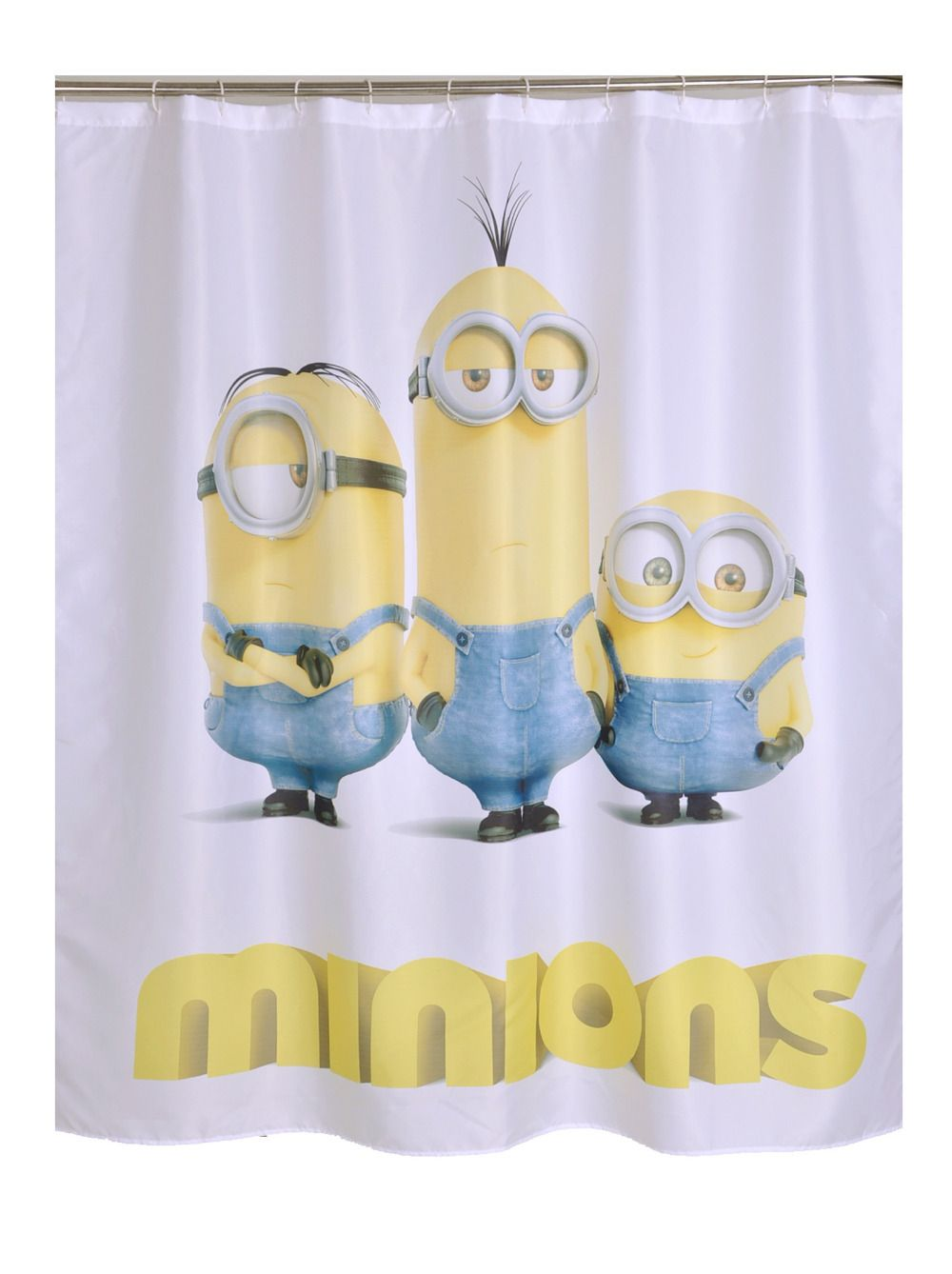 Bathroom Products Polyester Fabric Minions Cartoon Printed Shower