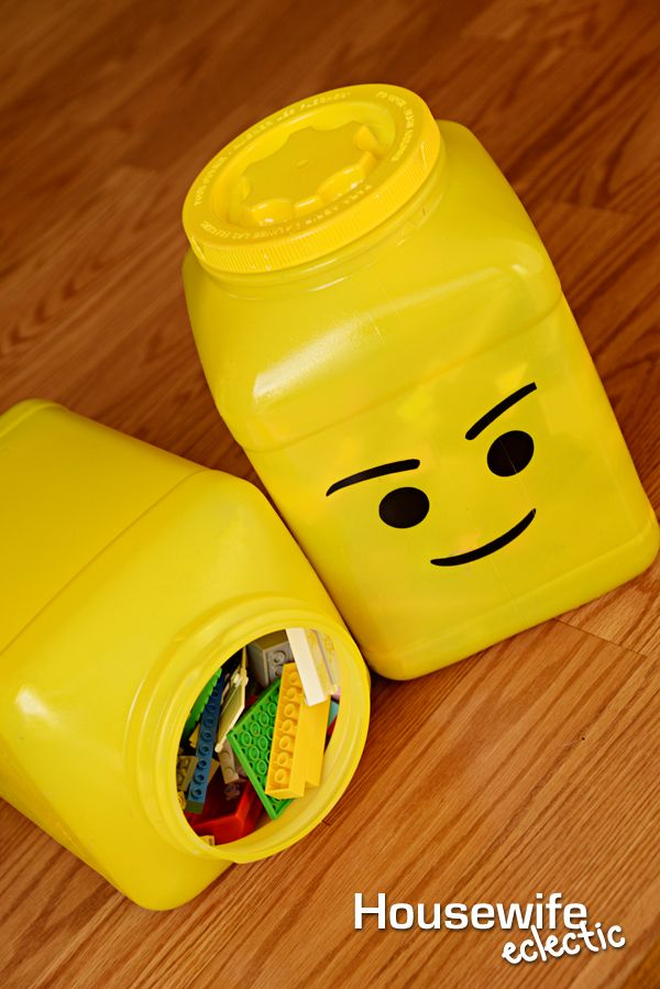 Housewife Eclectic: DIY Lego Head Storage Containers