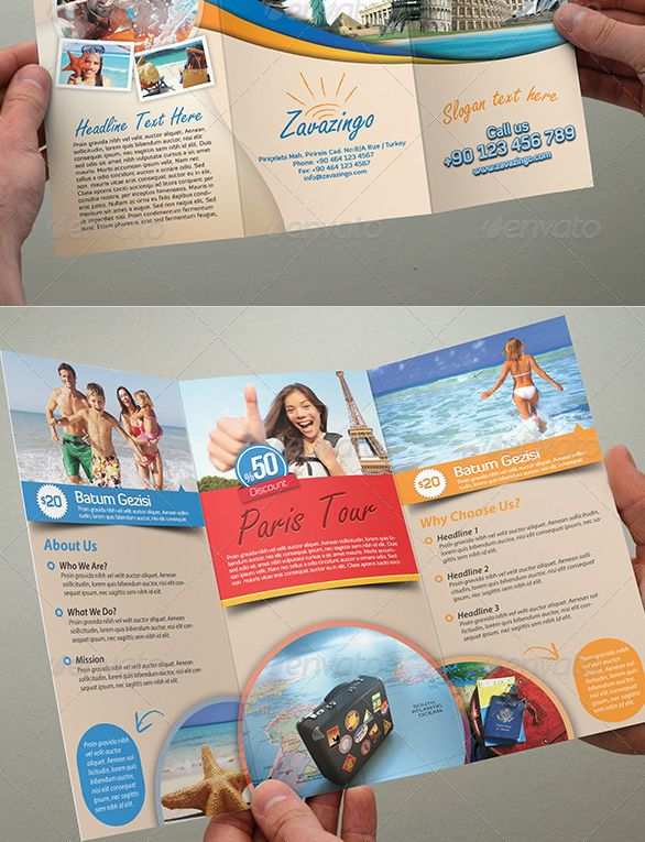25 Best Travel and Tourist Brochure Design Templates DesignMaz - Vacation Brochure Template