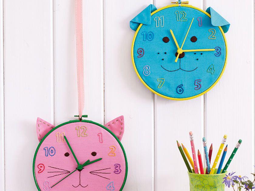 How To Make A Cat And Dog Kids Clock Saatler Egitim Kendin Yap