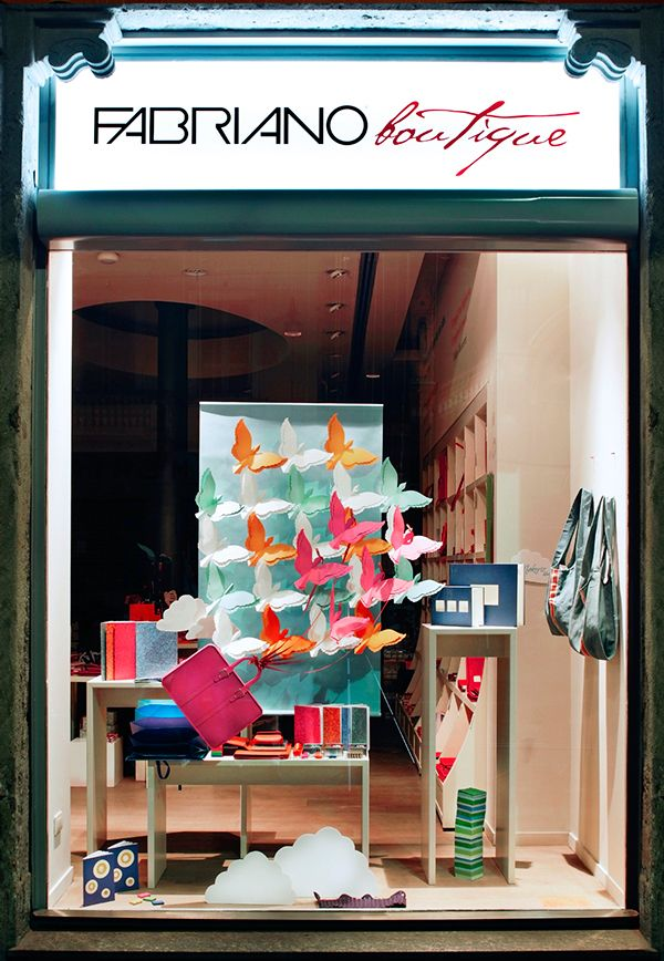 Window installations created for Fabriano Boutique's Spring 2011 collection…