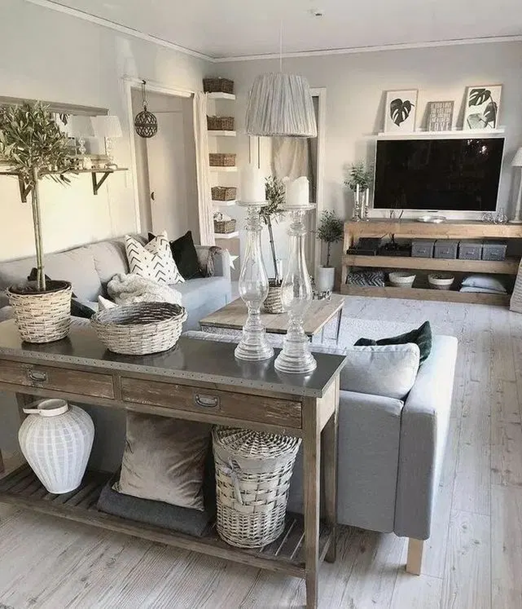 35 Popular Modern Farmhouse Living Room Decor Ideas (2020