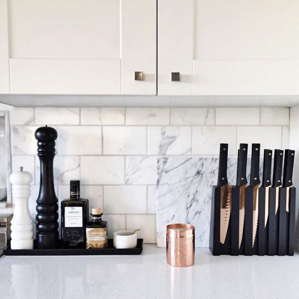 black and white kitchen accessories lighting for kitchens there s just something about the marble
