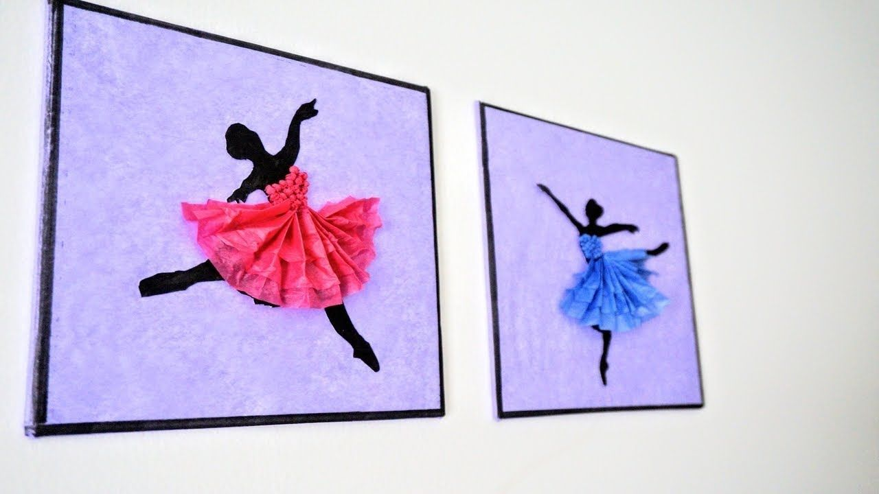 Ballerina Hanging Wall Decor Diy Handmade Paper Craft Home