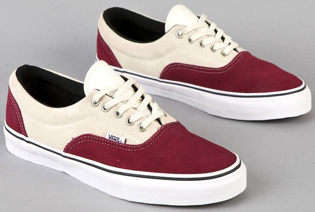 Vans Maroon And White