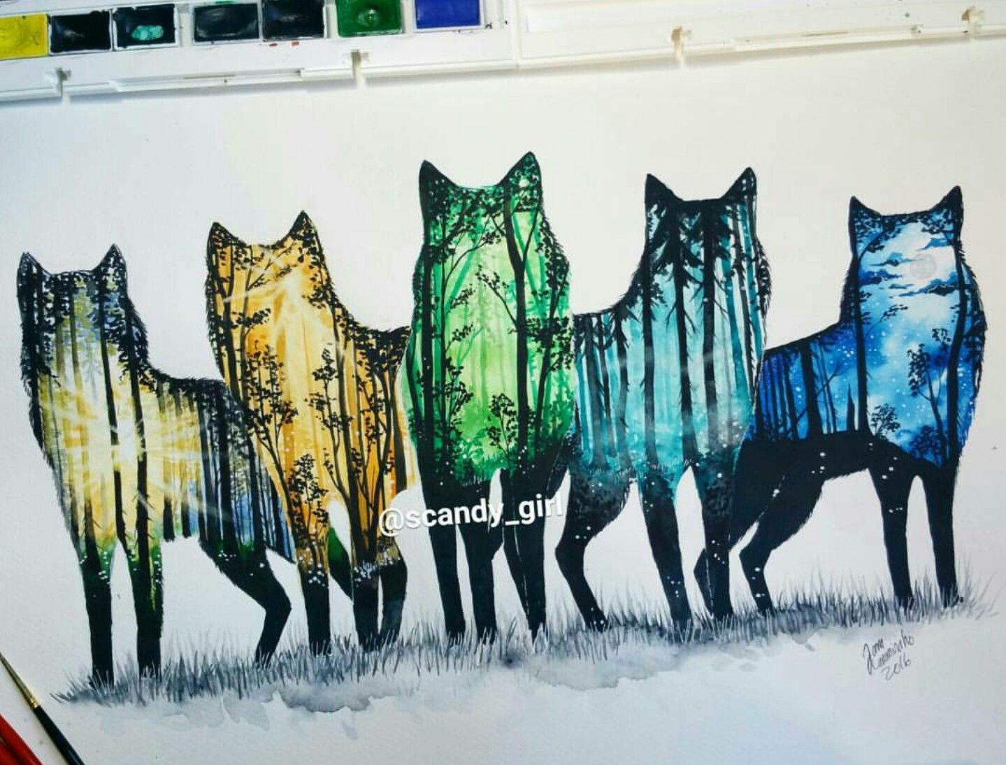 Watercolour Art By Jonna Scandy Girl Art By Jonna Scandy