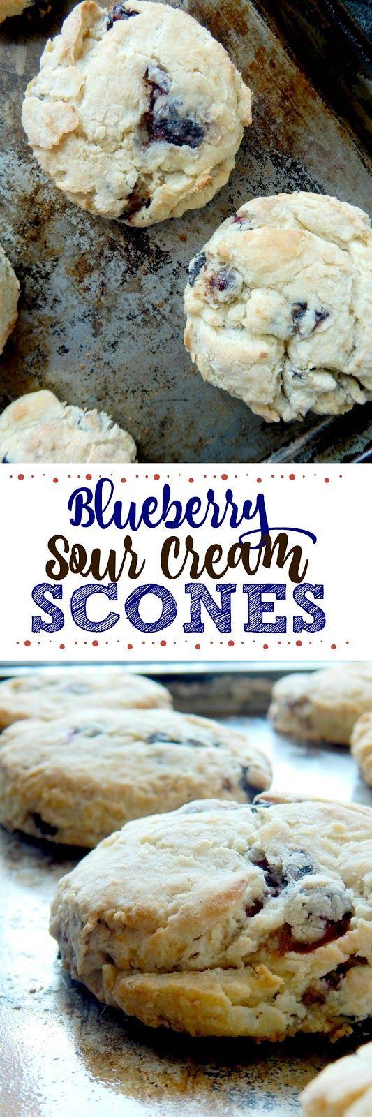 Blueberry Sour Cream Scones Recipe Sour Cream Scones Cream Scones Dessert Recipes