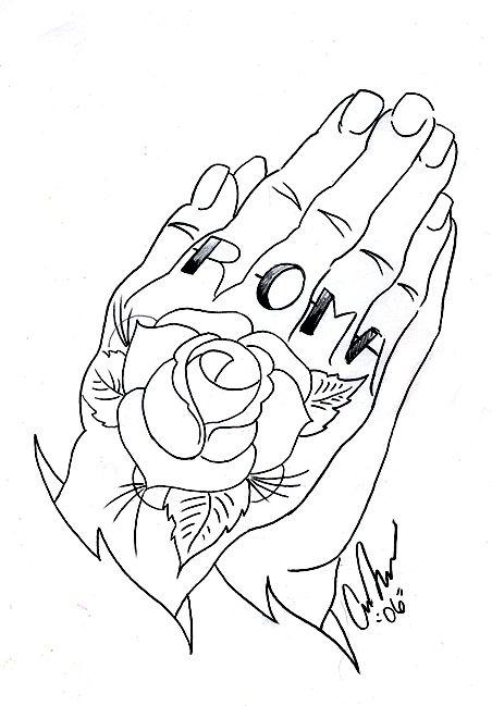 drawings of praying hands
