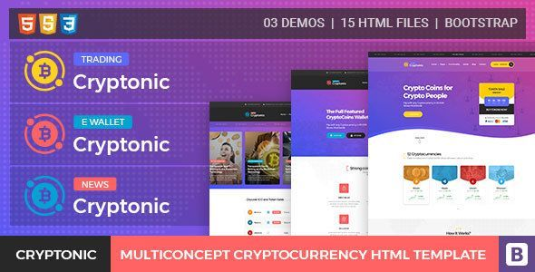 Cryptonic - Cryptocurrency HTML Template by Sweet-Attractive - business finance spreadsheet template