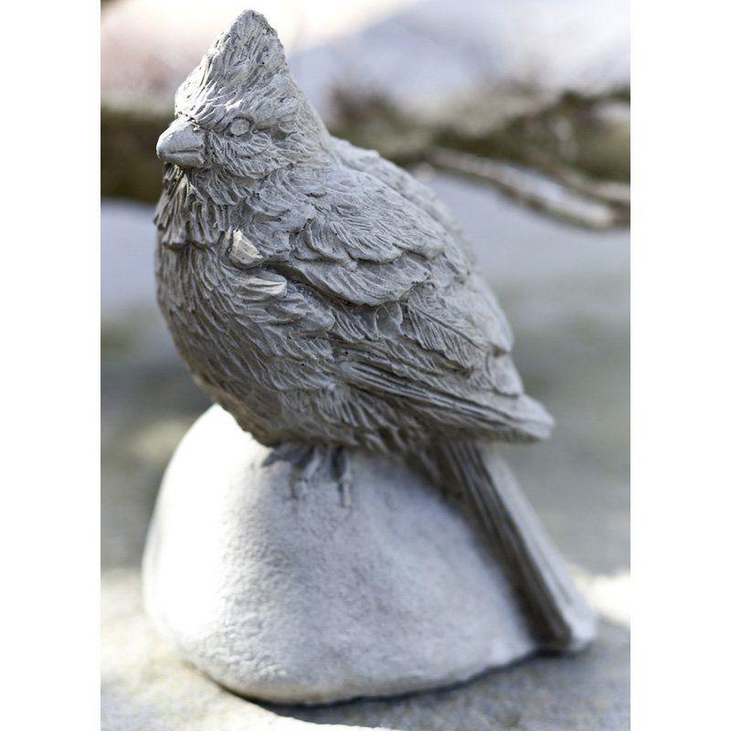 Campania International Cardinal Cast Stone Garden Statue Pietra Vecchia - A-391-PV