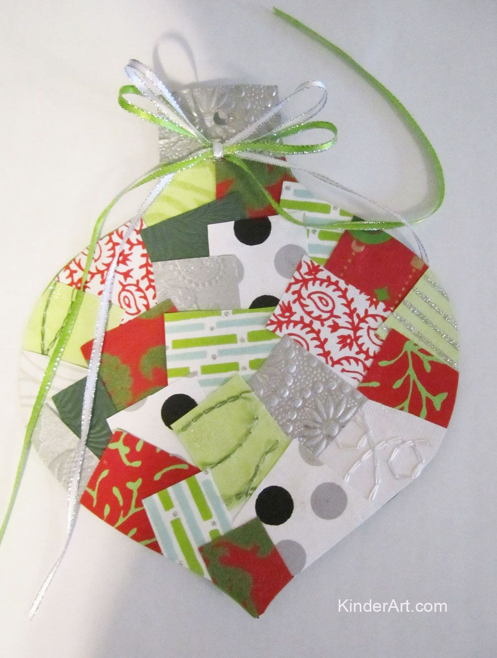 Paper Ornament Collage Kinderart Com Preschool Christmas Ornaments Christmas Paper Crafts Wrapping Paper Crafts