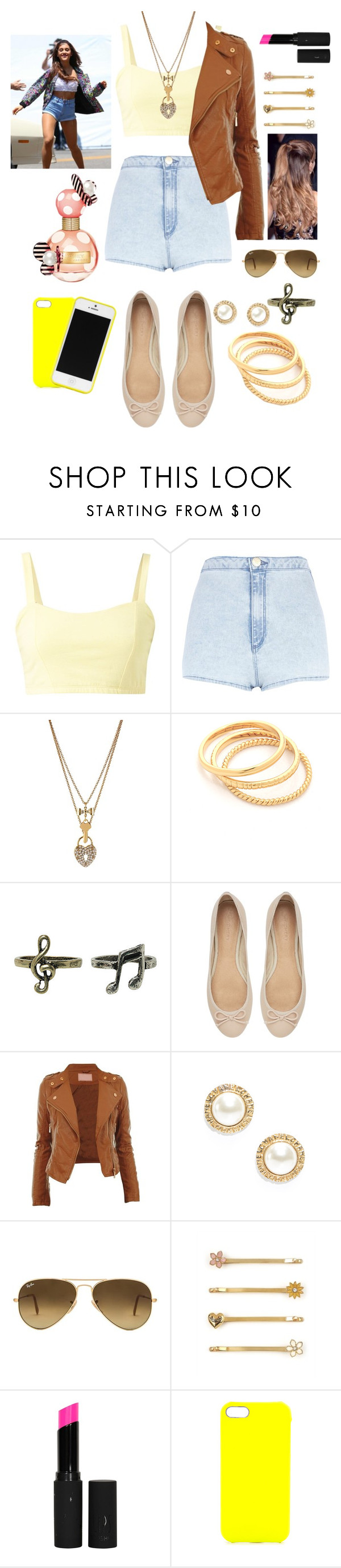 """Ariana Grande — Baby I"" by choosemaknae ❤ liked on Polyvore featuring River Island, Betsey Johnson, Gorjana, Witchery, Chanel, Ray-Ban, Juicy Couture, Topshop, Jagger Edge and Marc Jacobs"
