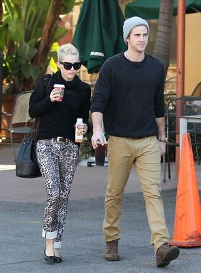 Miley with Liam Hemsworth 12/15