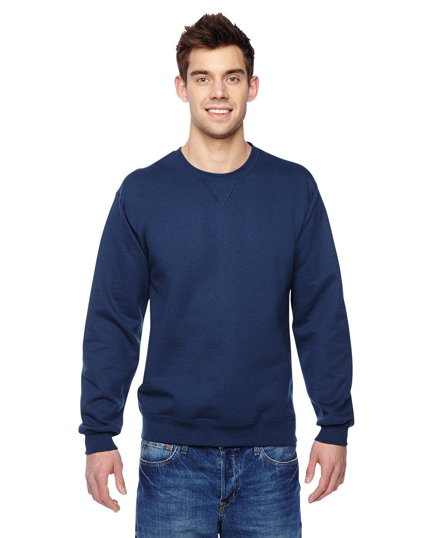 Navy Adult Fruit of the Loom Plain Blank Hooded Sweatshirt Pullover Hoodie