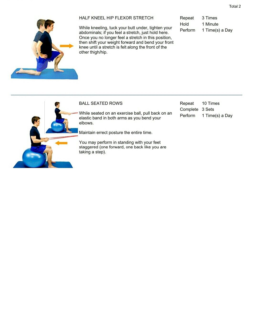 Physical Therapy Exercises 1 4 18 Page 1