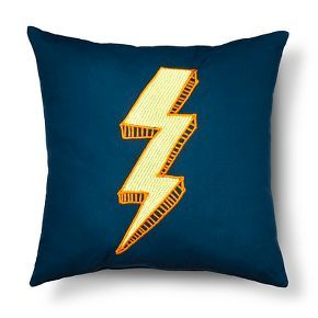 "Sabrina Soto™ Blast Off Lightning Decorative Pillow 16""X16"" - Multicolor"