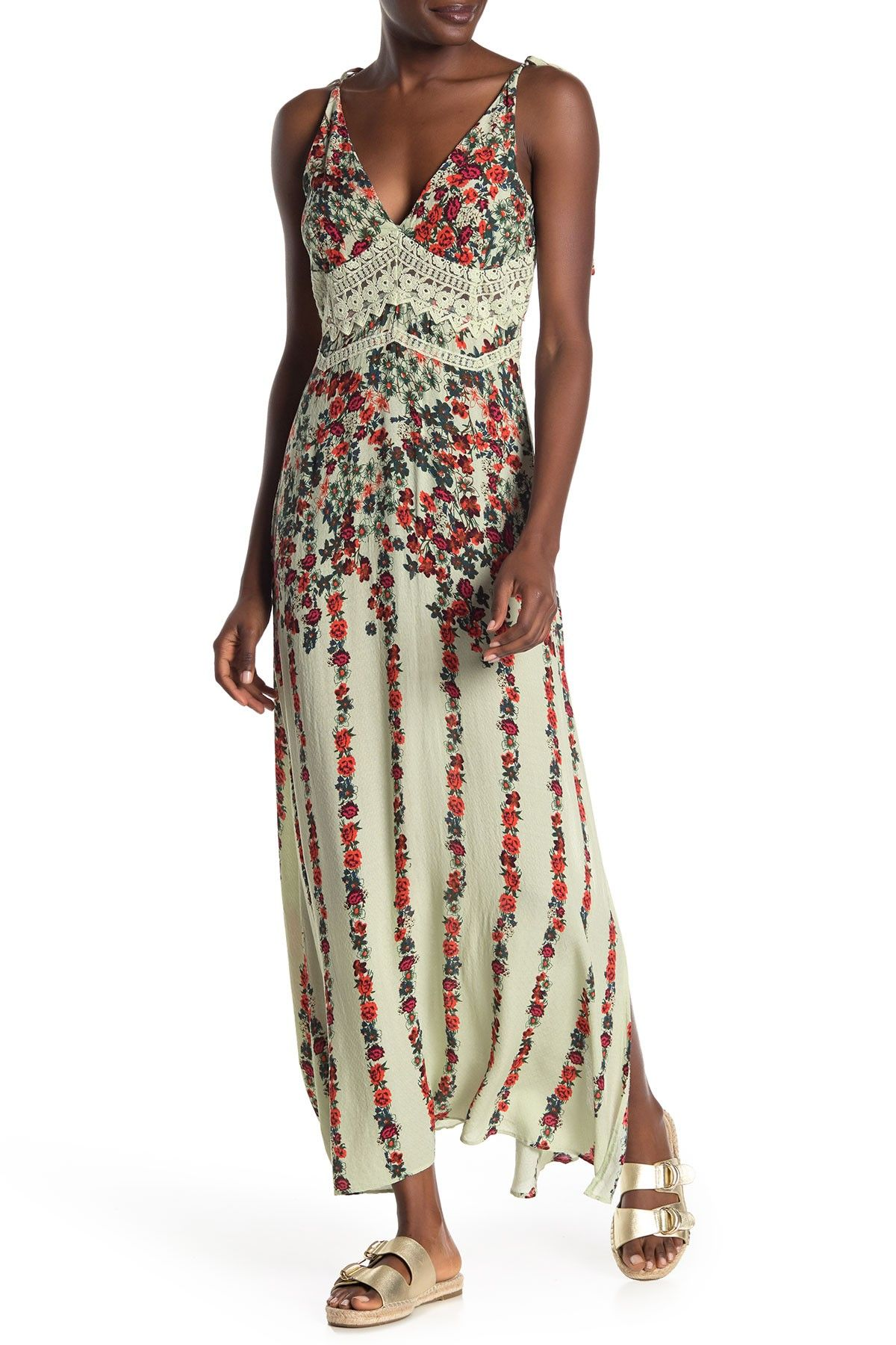 Free People Claire Floral Maxi Dress Maxi Dress Dresses
