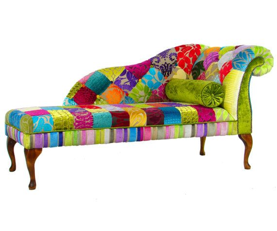 Bespoke Patchwork RHF Chaise Longue Designers by JustinaDesign