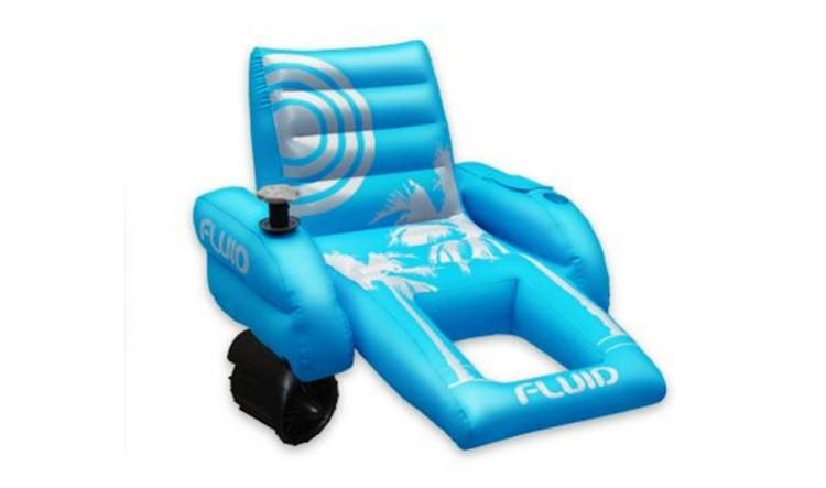 chair pool floats weird rocking chairs palm beach motorized lounger in 2019 awesome stuff inflatable with a motor and joystick