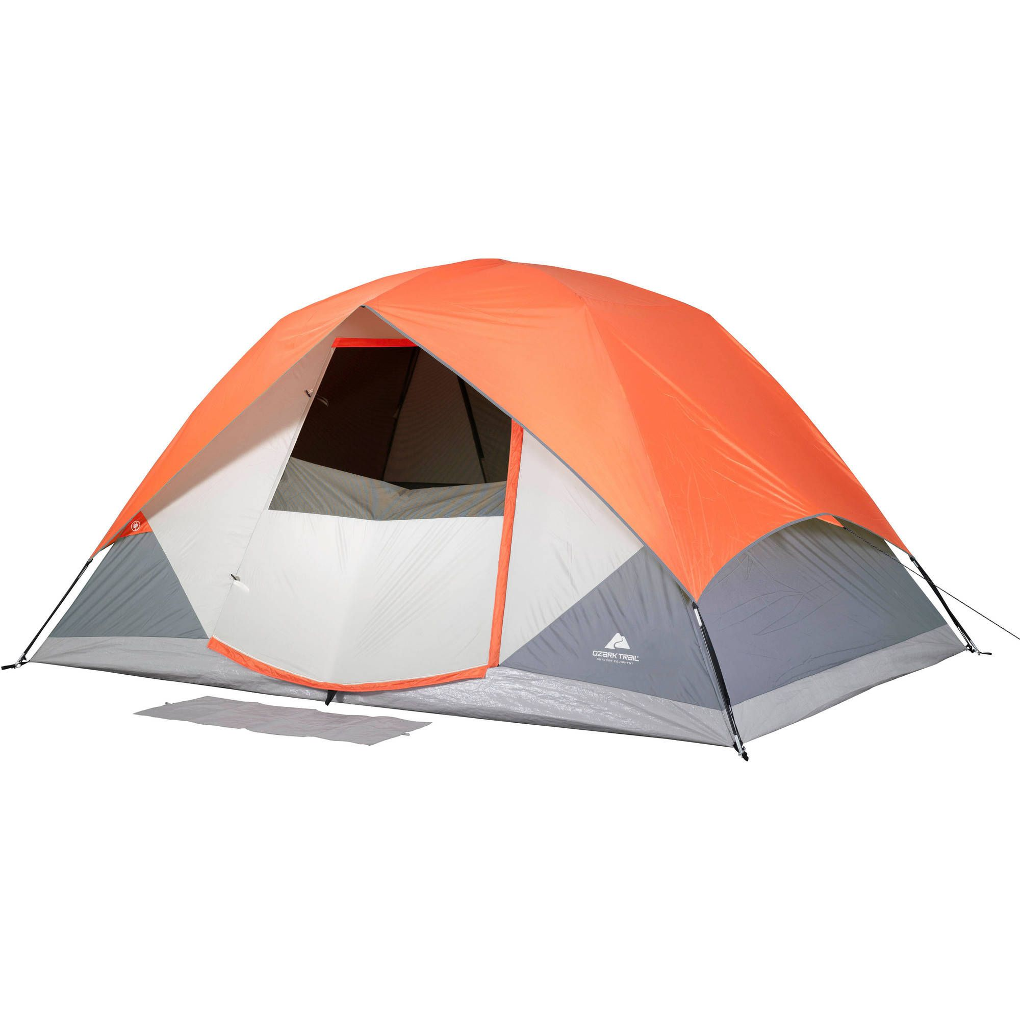 Ozark Trail 12 X 8 Dome Camping Tent With Roll Fly Back Sleeps 6 Walmart Com Family Tent Camping Tent Ozark Trail