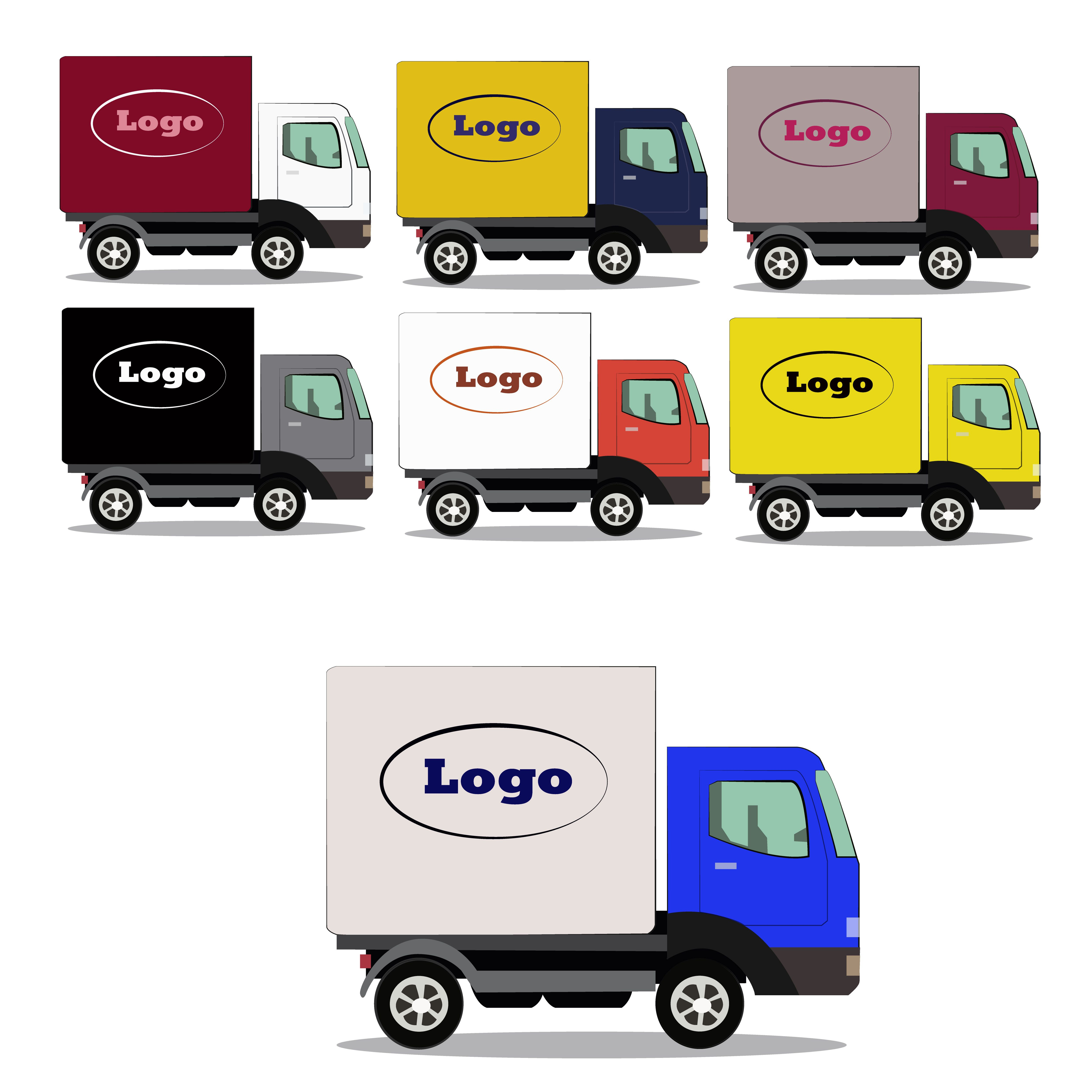Truck Delivery Icon Vector Car Illustration Business Design