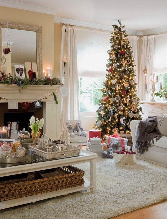 elegant christmas living room decor yellow decorating ideas for rooms dreamy xmas indoors pinterest