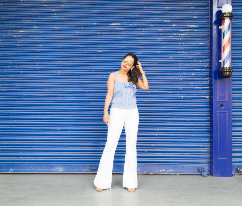 Nautical stripes and white jeans perfect summer trend for SS2016