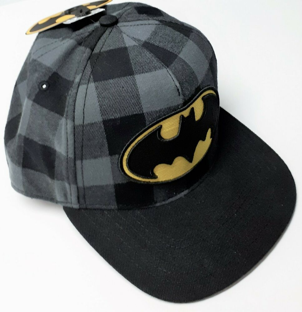 NEW Batman DC Comics Snapback Hat Cap Headwear Flat Beak Adjustable One Size