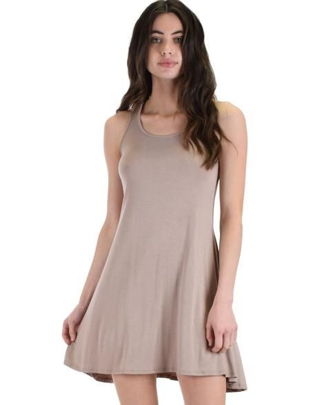 22068c31d90 Strap Me Up Swing Dress - Simple and swingy, this swing dress with back  cross