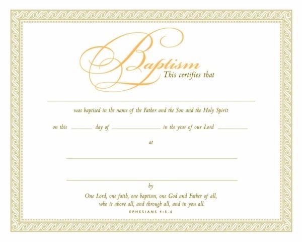 Eph 4 5 6 Parchment Baptism Certificate Certificate Baptism Certificate Templates Christian Baptism Baptism