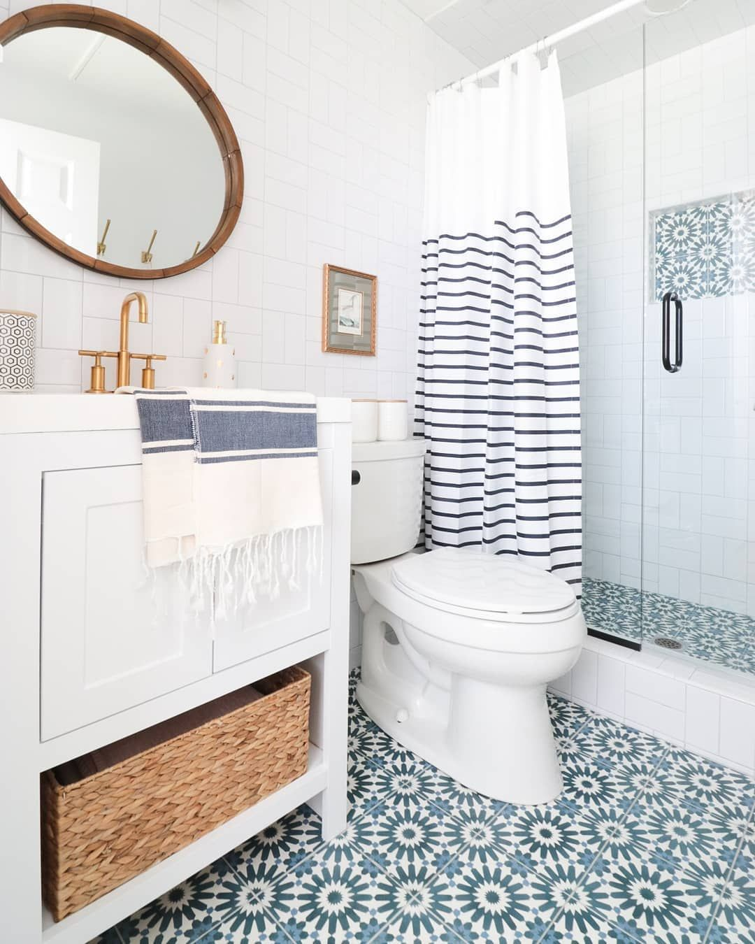 Well Did You All Survive Monday I Barely Did I Crossed Some Things Off My List But Still Have Trendy Bathroom Designs Bathroom Design Teal Shower Curtains