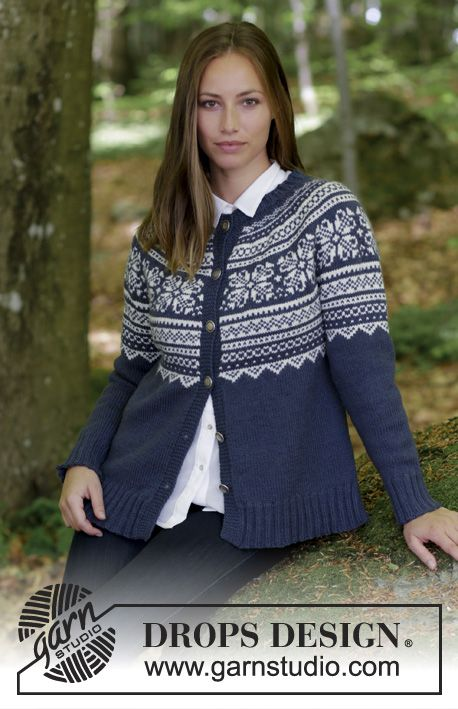 Lofoten Jacket Drops 181 10 Knitted Jacket With Round Yoke