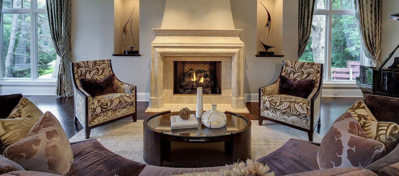 Hilltop Custom Build_Interior_Living Room_Formal_Custom fireplace_Custom Sofa_Stonewood LLC Custom Home Builder