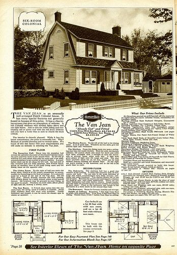 Img008 Dutch Colonial Homes Colonial House Plans Vintage House Plans