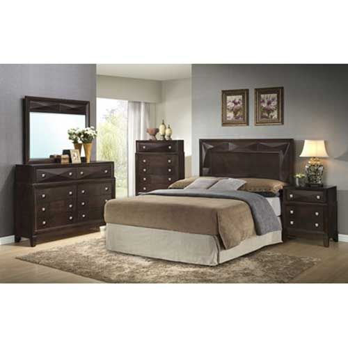 Step One Furniture Kingsbury 7 Piece Bedroom Group With Mattress Set