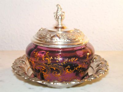 WMF ART NOUVEAU BUTTER DISH & SUGAR BASKET