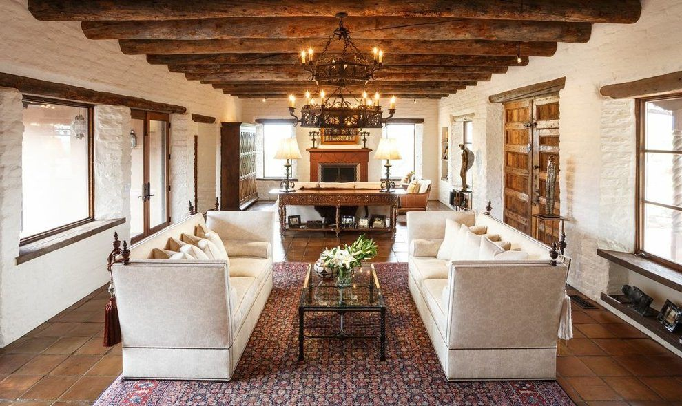 spanish style living room furniture black cream and green ideas painted vintage dining albuquerque santa fe southwestern with