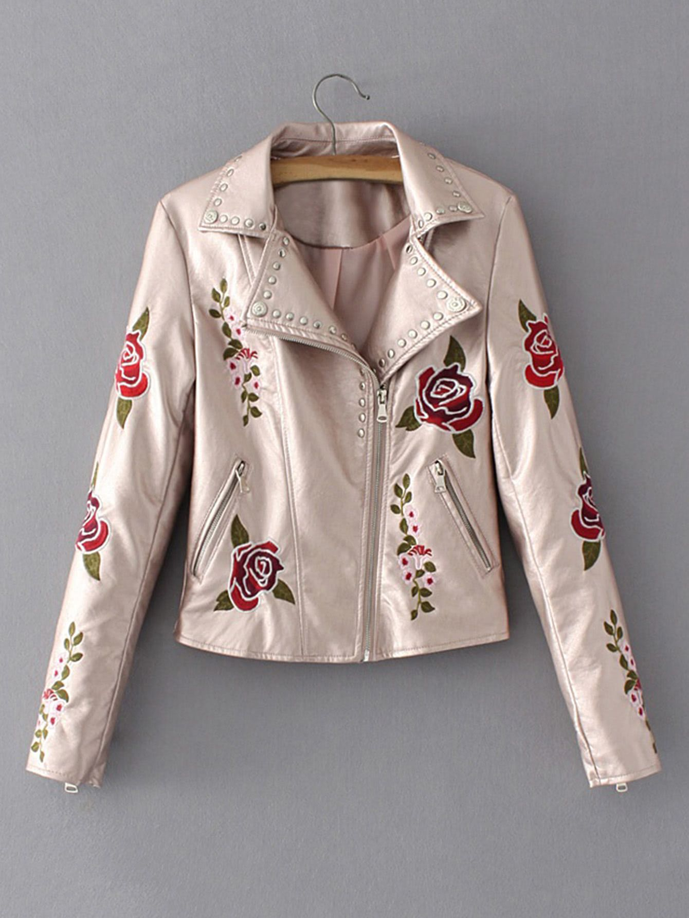 mirada detallada c79a8 01500 Consigue este tipo de chaqueta de cuero de SheIn ahora! Haz ...