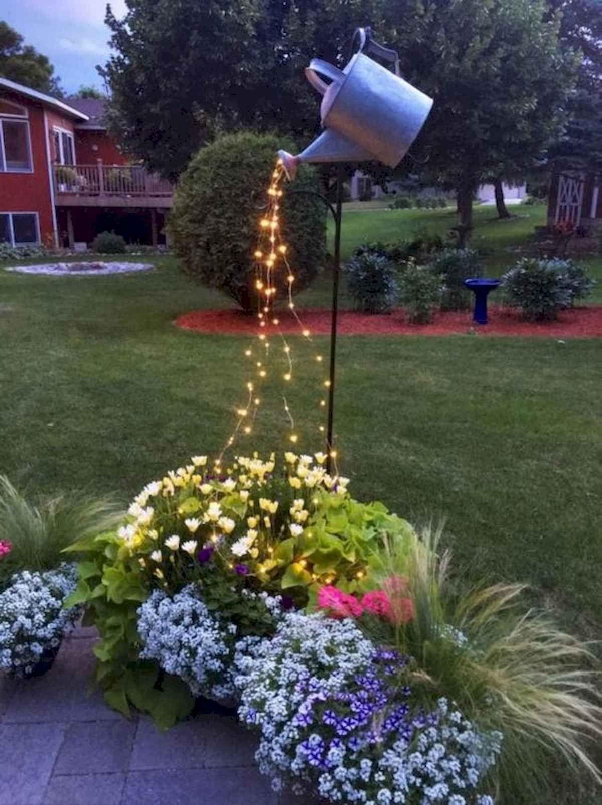 Nice 70 Creative And Inspiring Garden Art From Junk Design Ideas For Summer Https Livingmarch Com 7 Backyard Landscaping Garden Lighting Design Garden Design