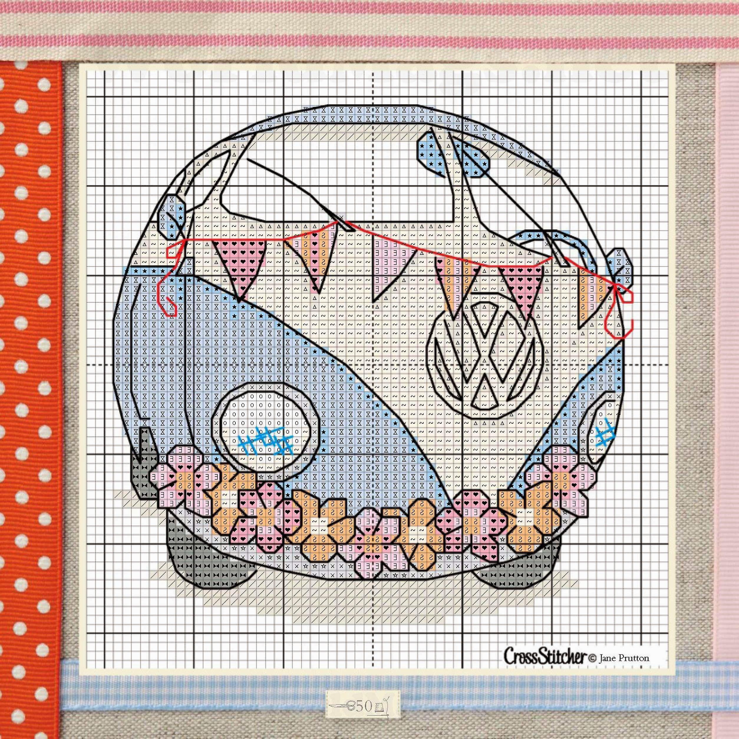 Hippie van cross stitch free pattern , part B   Bitchin Stitchin ...
